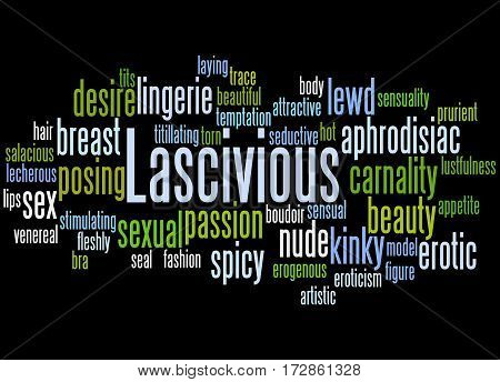 Lascivious, Word Cloud Concept 6