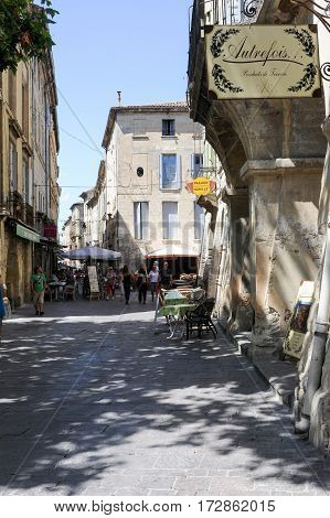 The Old Town Of Uzes On France