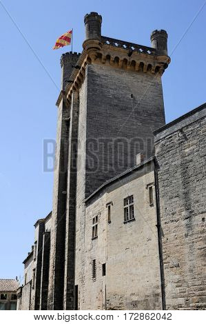 Duche Tower At Uzes On Languedoc-roussillon