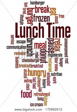 Lunch Time, Word Cloud Concept 3