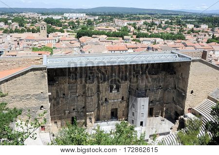 Roman Theater In Orange, Southern France