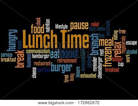 Lunch Time, Word Cloud Concept 4