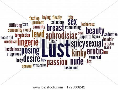 Lust, Word Cloud Concept 3