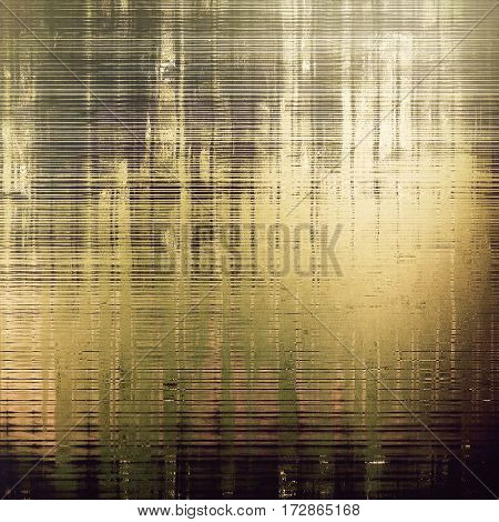 Retro style graphic composition on textured grunge background. With different color patterns: yellow (beige); brown; gray; green; black