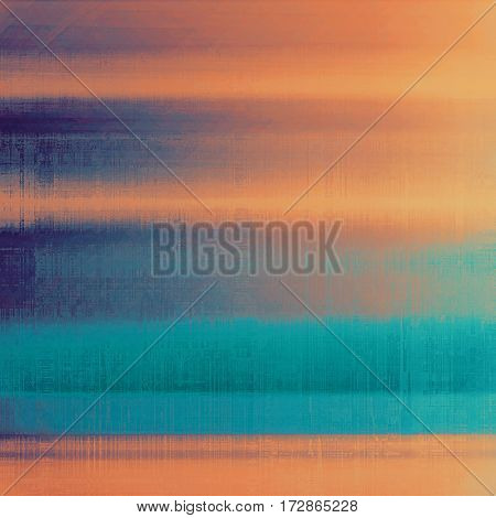 Retro design on grunge background or aged faded texture. With different color patterns: yellow (beige); brown; blue; red (orange); cyan