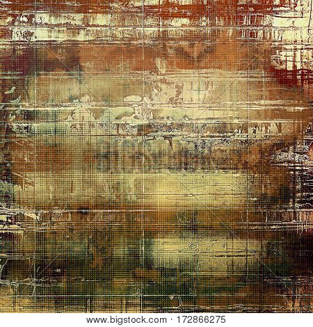 Creative elegant design used as retro background for your art project. With grunge texture and different color patterns: yellow (beige); brown; gray; green; red (orange)