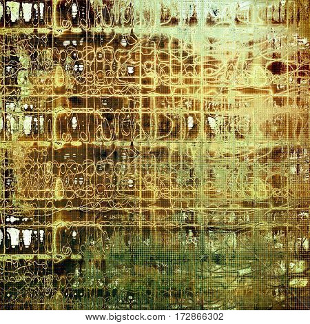Ancient texture or damaged old style background with vintage grungy design elements and different color patterns: yellow (beige); brown; gray; green; white