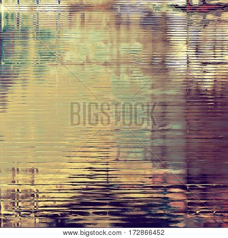 Grunge retro composition, textured vintage background. With different color patterns: yellow (beige); brown; gray; purple (violet); pink; green