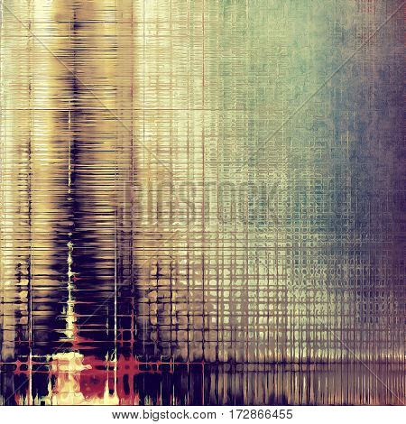 Old, grunge background or damaged texture in retro style. With different color patterns: yellow (beige); brown; purple (violet); pink; green; blue