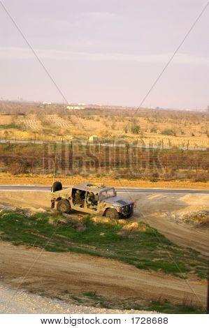 Israel Army Jeep Near Gaza Border