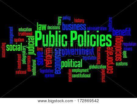 Public Policies, Word Cloud Concept
