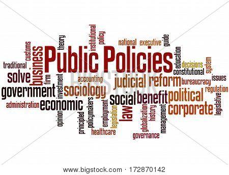 Public Policies, Word Cloud Concept 9