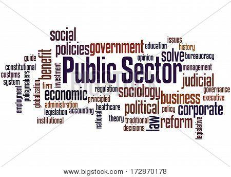 Public Sector, Word Cloud Concept