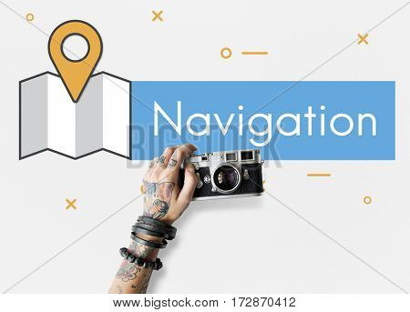 Navigation GPS Icon Symbols Technology