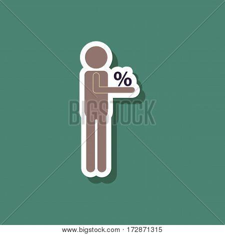 fashion patch , sale sticker human discounts percent