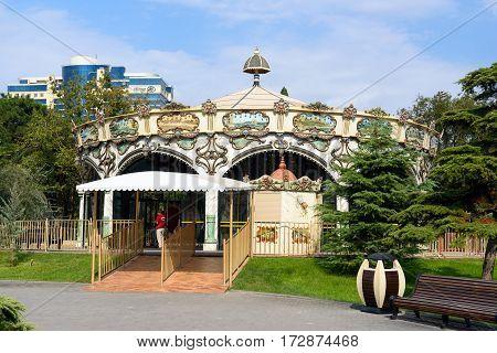 Carousel On Seaside Boulevard. Baku