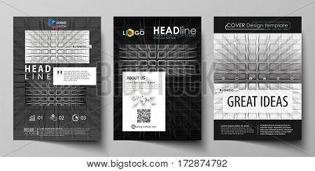 Business templates for brochure, magazine, flyer, booklet or annual report. Cover design template, easy editable vector, abstract flat layout in A4 size. Abstract infinity background, 3d structure with rectangles forming illusion of depth and perspective.