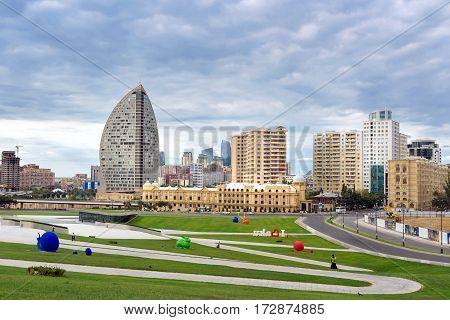 City View From Heydar Aliyev Center. Baku