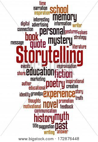 Storytelling , Word Cloud Concept 2