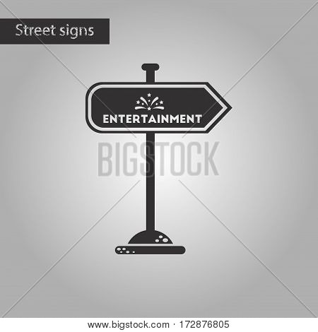 black and white style icon of sign entertainment
