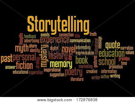 Storytelling , Word Cloud Concept 9