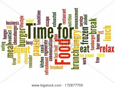 Time For Food, Word Cloud Concept 4