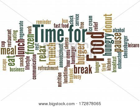 Time For Food, Word Cloud Concept 6