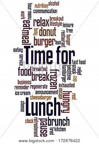 Time For Lunch, Word Cloud Concept 2