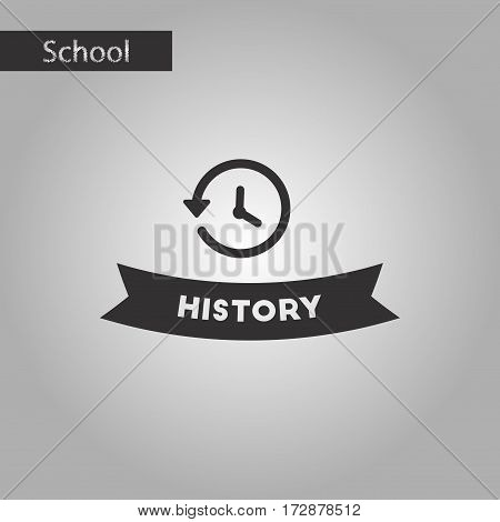 black and white style icon of history lesson