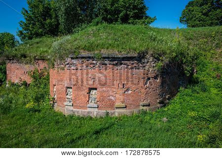 ruins of old fortifications in Daugavpils city Latvia