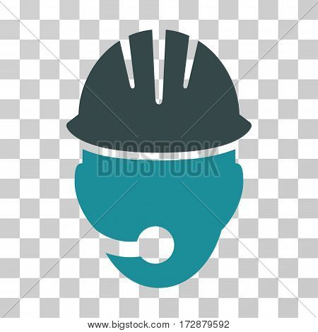 Industrial Operator vector icon. Illustration style is flat iconic bicolor soft blue symbol on a transparent background.