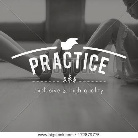 Ballerina Training Perform Elegance Icon