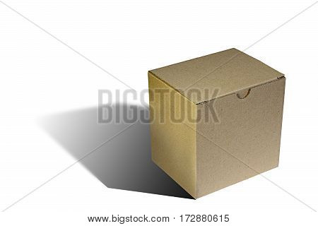 simple carton box over white with shadow