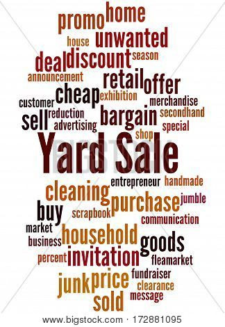 Yard Sale, Word Cloud Concept 5