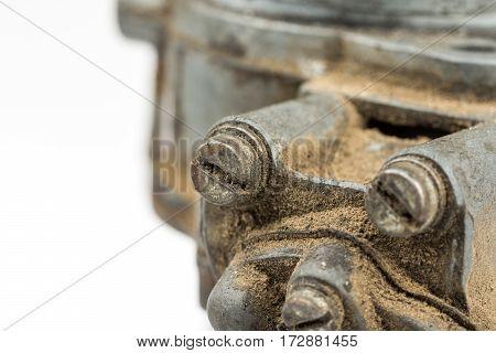 Old Dirty Screws In Metal Object