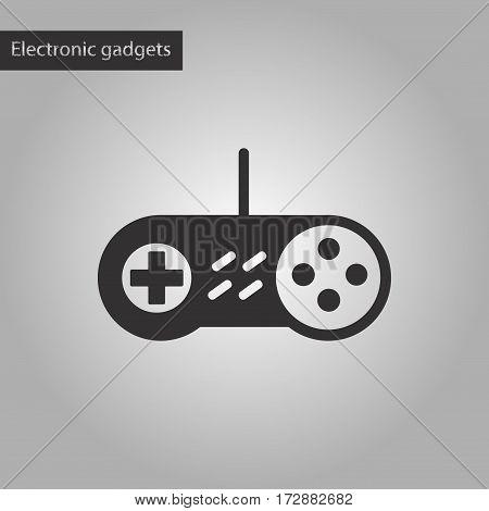 black and white style icon of game joystick