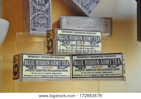 Blue Ribbon Army Tea used by the British soldiers in forts during the second world war