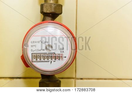 Meter of monthly consumption water or gas