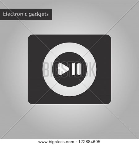 black and white style icon of music player