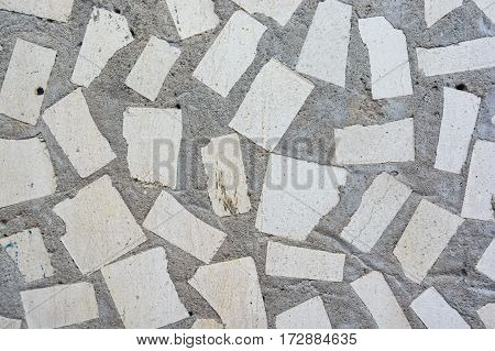 Closeup of brown rough actique stone wall