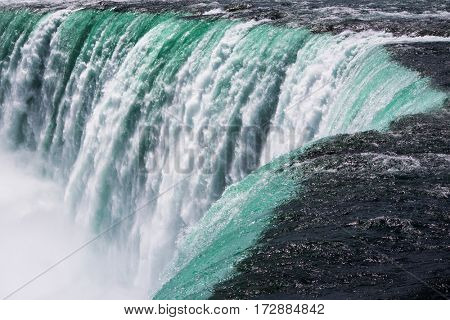 Close-up image of Nigara Falls, Power of falls