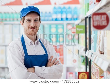 Supermarket Clerk Portrait