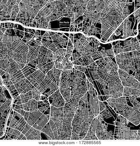 São Paulo One Color Map