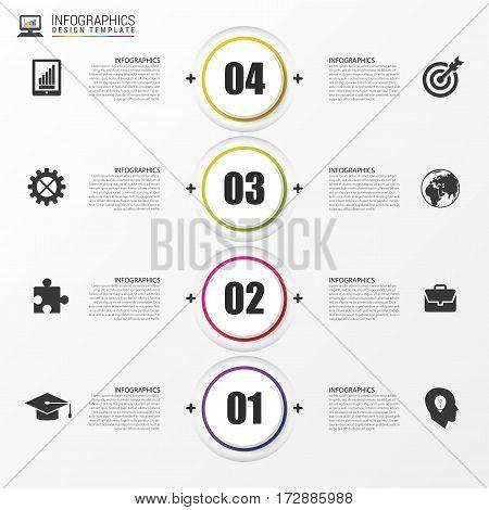 Timeline Infographic. Modern design template. Vector illustration