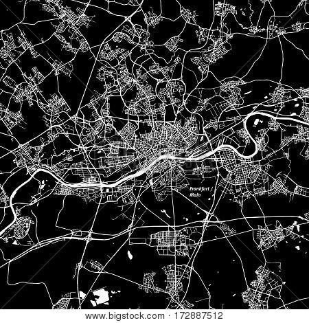 Frankfurt Am Main Area Vector Map