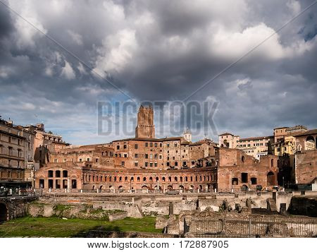 Augustus forum in Ancient Rome in Italy