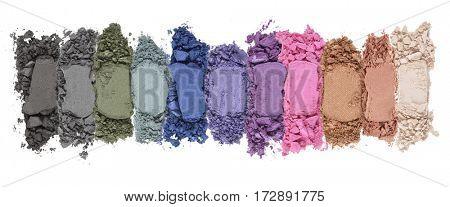 Smashed eye shadow palette horizontal display