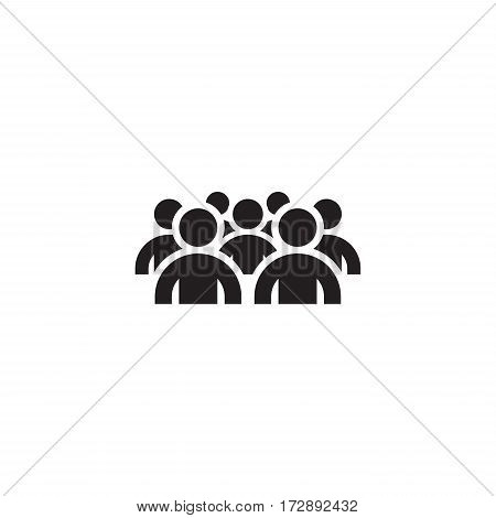 Focus Group Icon. Business Concept. Flat Design.