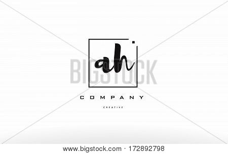 Ah A H Hand Writing Letter Company Logo Icon Design
