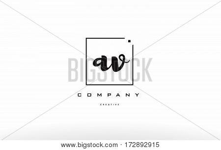 Av A V Hand Writing Letter Company Logo Icon Design